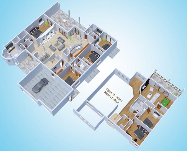Floor Plan The Riverside Dream Cape Coral 3d rendering