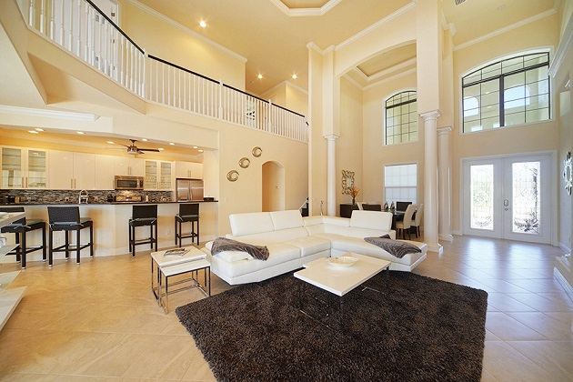 Cape Coral New Construction Home Riverside Dream living area