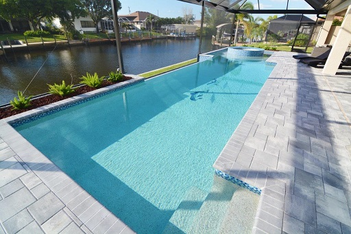 cape coral fl home builder model home contemporary overflow pool